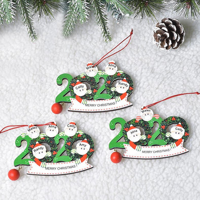 2020 Holiday Wreath Family Ornament
