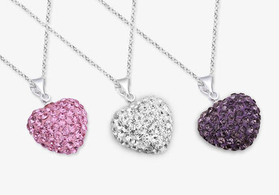Swarovski Crystal Heart Necklace - Assorted Color.