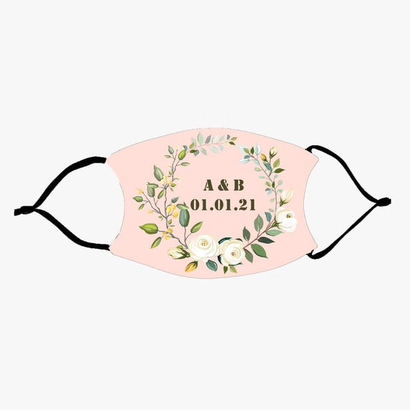 Your Wedding Date Fashion Design Printed Reusable Face Mask.