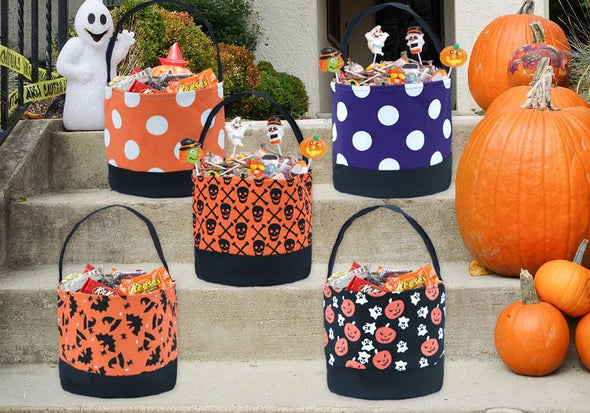 Halloween Bucket Tote Bag for Kids.