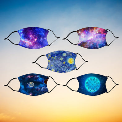 Constellation Fashion Design Printed Reusable Face Mask.