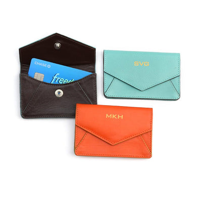 Non-Personalized | Genuine Leather Credit Card Holder.