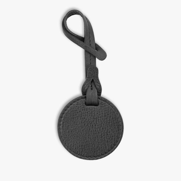 Non-Personalized | Genuine Leather Round Bag Charm.