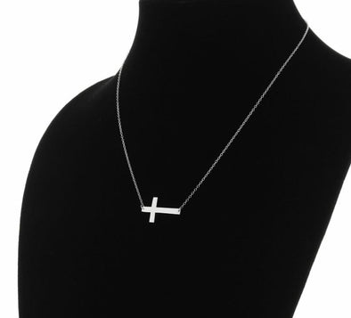 Exclusive Sale | Sterling Silver Cross Necklace.