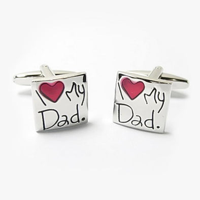 Exclusive Sale | I Heart My Dad Cuff Links.