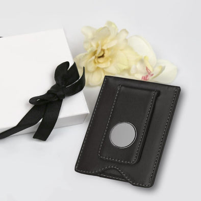 Non Personalized | Leather Money Clip Gift Boxed.
