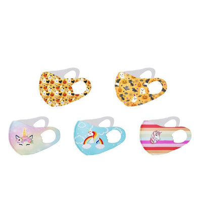 3-D Kids Fashion Design Printed Reusable Face Masks.