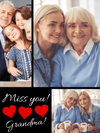 Miss You! Personalized Photo Blanket.