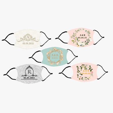 Your Wedding Date Fashion Design Printed Reusable Face Mask