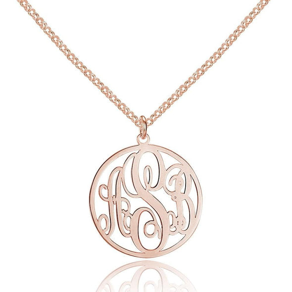 Personalized Monogram Necklace in 925 Sterling Silver