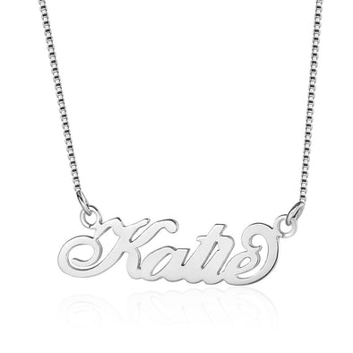 Personalized 925 Sterling Silver/Yellow Gold/Rose Gold Name Necklace