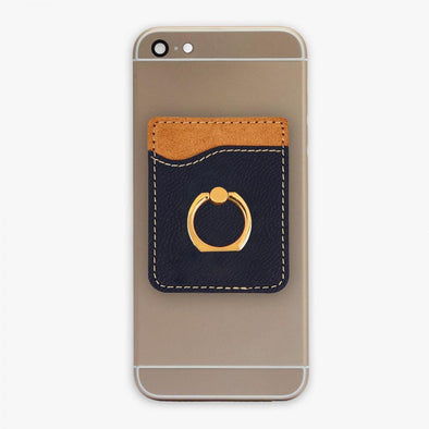 Non-Personalized | Leatherette Caddy Phone Wallet w/ Ring.