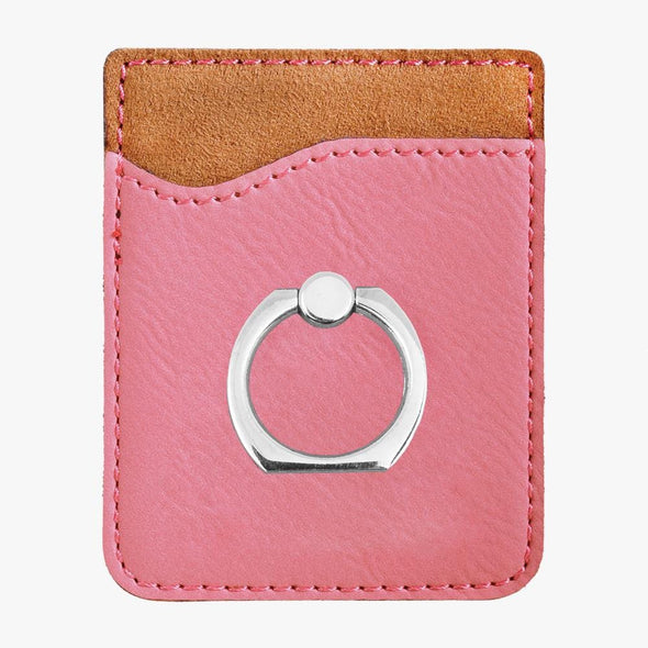 Non-Personalized | Leatherette Caddy Phone Wallet w/ Ring