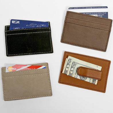Non-Personalized | Leatherette Money Clip.