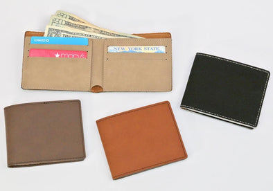 Non-Personalized | Leatherette Bifold Wallet.