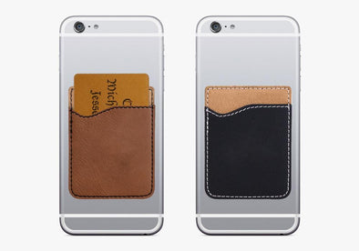 Non-Personalized | Leatherette Caddy Phone Wallet.