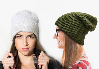 Non-Personalized | Textured Knitted Slouchy Beanie.