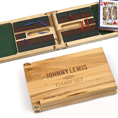 Personalized Cribbage Game Gift Set.