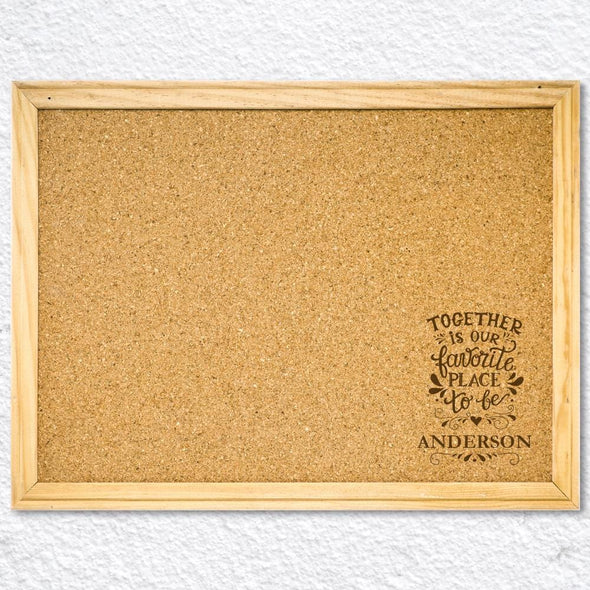Be Custom Cork Memo Board w/ Push Pins | Personalized School Supplies