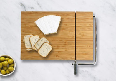 Non-Personalized | Wood Cheese Board w/ Slicer.