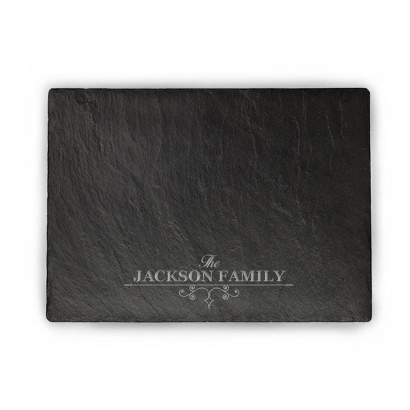 Personalized Established Slate Serving Board | Custom Cheese Board.