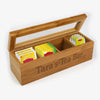 Tea Time Personalized Name Wood Tea Box.