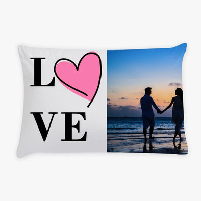 Photo Personalized LOVE Sleeping Pillow Case.