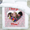 The greatest Mom photo blanket