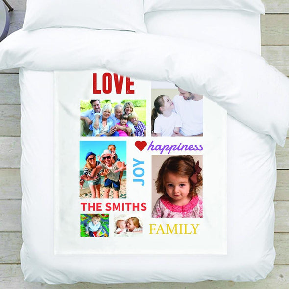 Family Photo Blanket