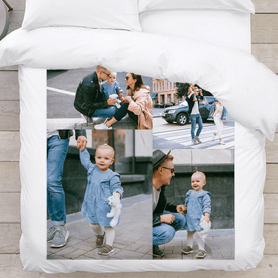 Personalized Photo Blanket | Four Image Collage Blanket.