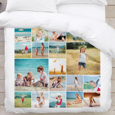 Throw Photo Blanket | Build Your Own Design Custom Photo Collage Blanket