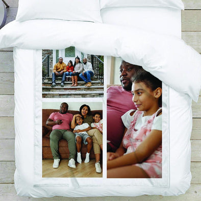 3-Photo Collage Personalized Photo Blanket