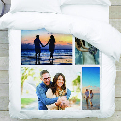 4-Photo Personalized Collage Blanket