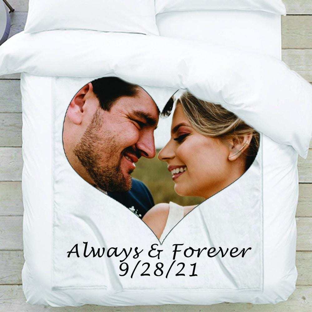 Heart Shaped Personalized Photo Blanket