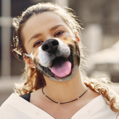 DOG FACE Fashion Design Printed Reusable Face Mask.