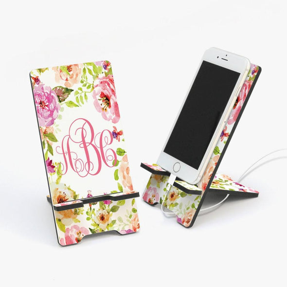 Blue Roses Design Personalized Cell Phone Stand