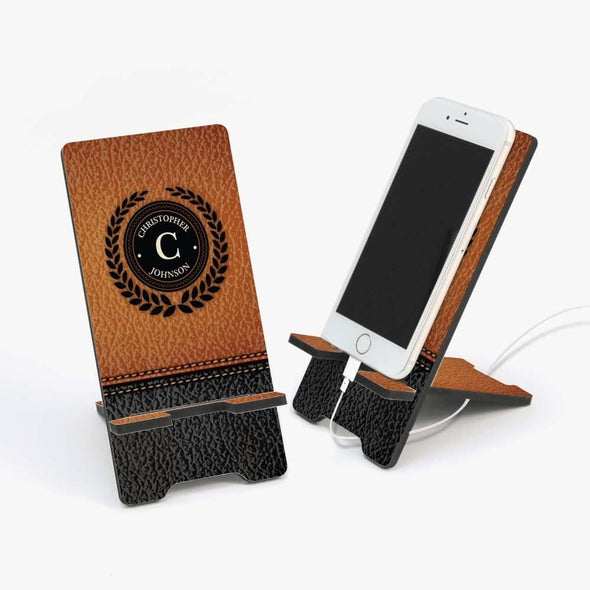 Custom Wooden Design Cell Phone Stand.