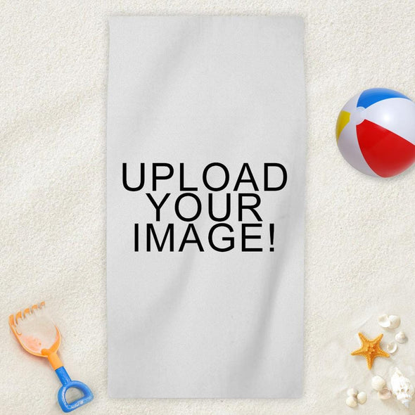 Personalized Photo Mini Beach Towel.