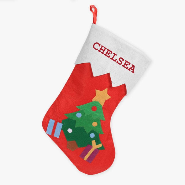 Santa Claus Personalized Blue Christmas Stocking