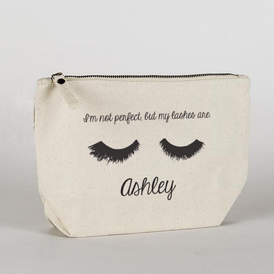 I'm Not Perfect, But My Lashes Are Custom Makeup Bag