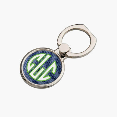 Personalized Round Block Monogram Mobile Phone Ring Holder.