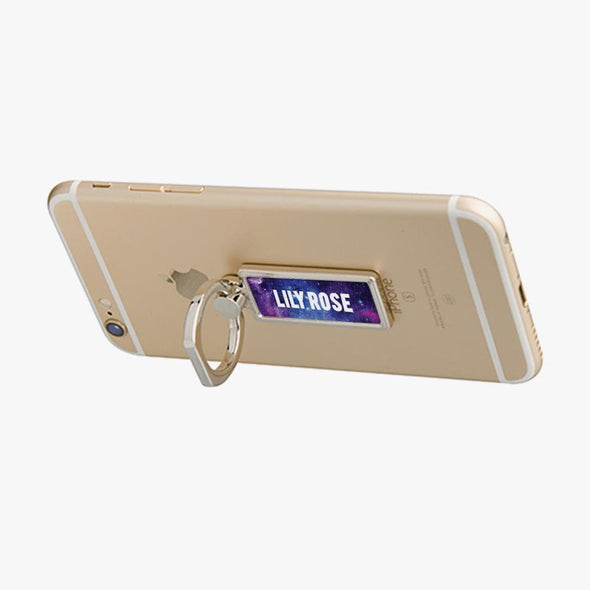 Personalized Rectangle Galaxy Mobile Phone Ring Holder.