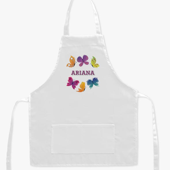 Personalized Butterfly Kids Apron.