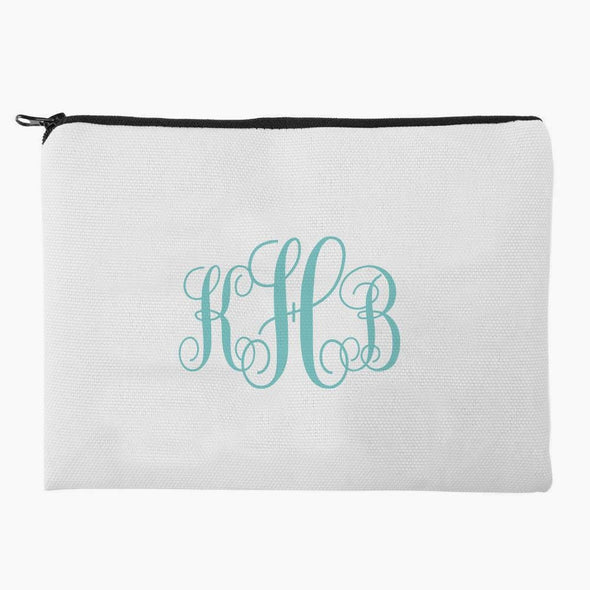 Customized Monogram Makeup Bag.