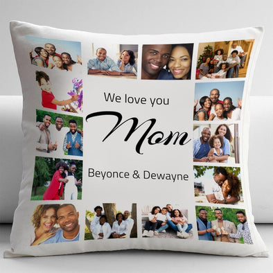 Photo Collage Pillow for Mom | Build your own custom throw pillow