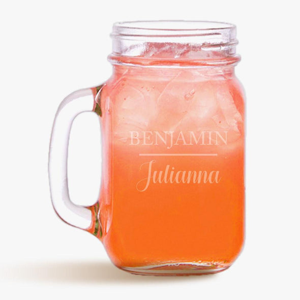Personalized Name Mason Jar