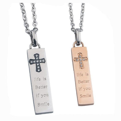 Exclusive Sale | Stainless Steel Cross Bar Necklace.