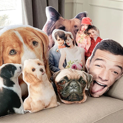 Personalized 3D Throw Pillow.