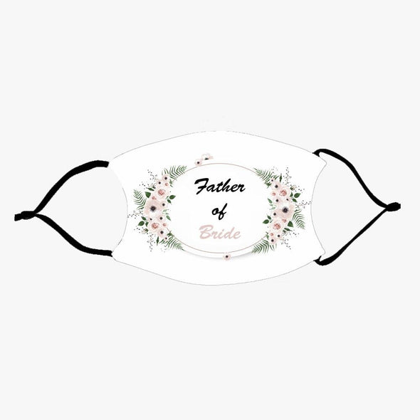 Wreath Wedding Fashion Design Printed Reusable Face Mask.