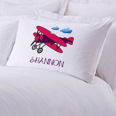 Airplane Personalized Kids Sleeping Pillowcase.